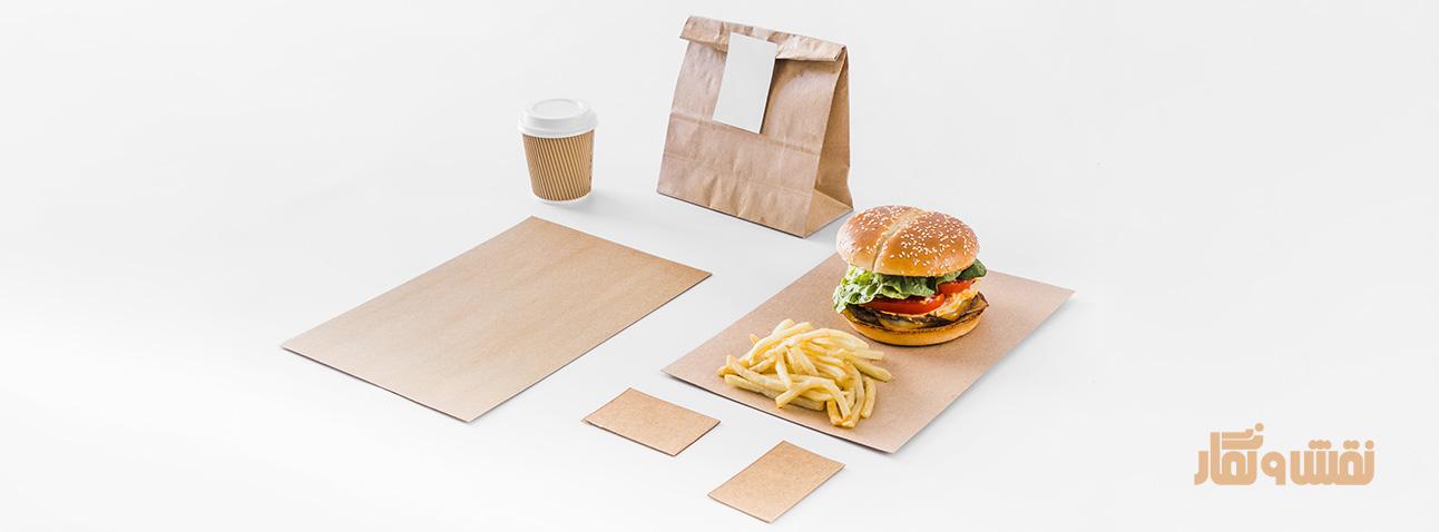 جعبه فست فود، بسته بندی مواد غذایی، جعبه برگز، بسته بندی فست فود، جعبه بیرون بر